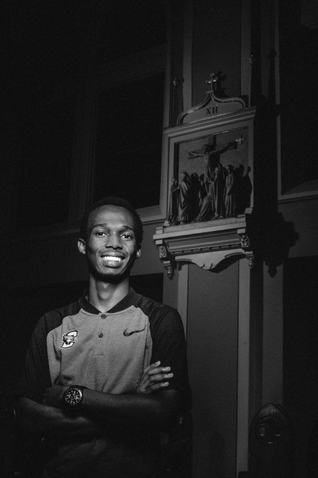 Ismail Ntakirutimana, one of our Imana Kids now attending Creighton. Photo by Omaha Magazine Staff.