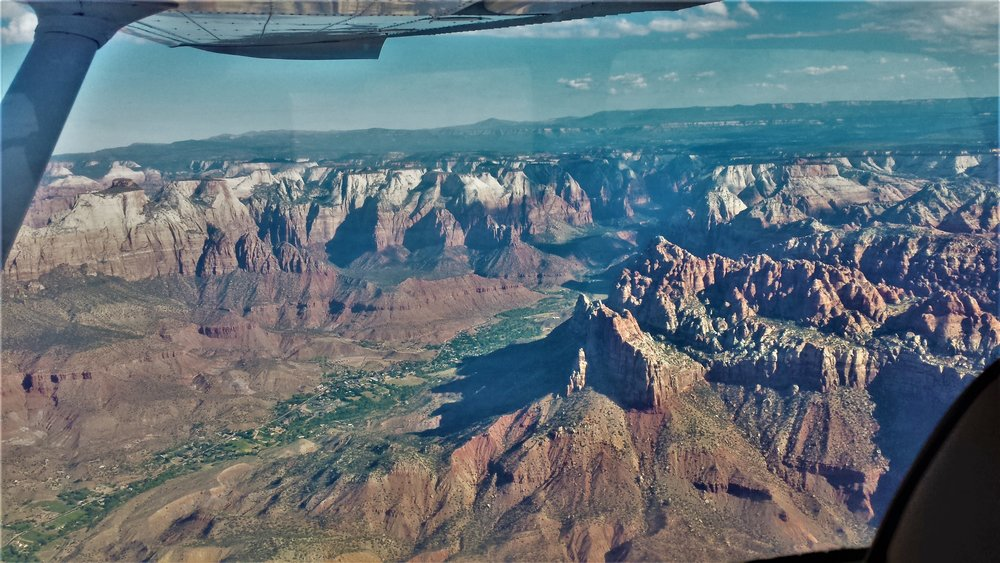 zions from a plane