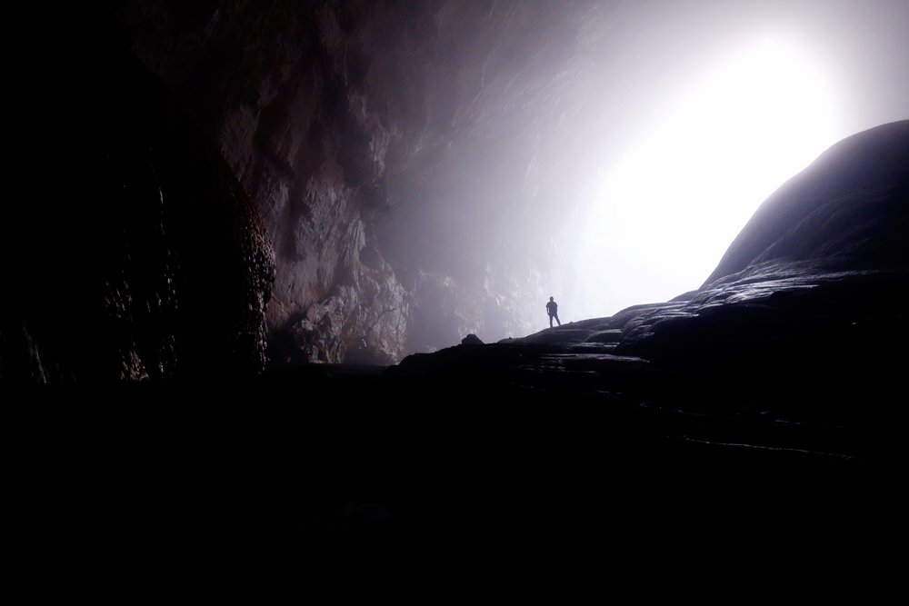 inside dark cave