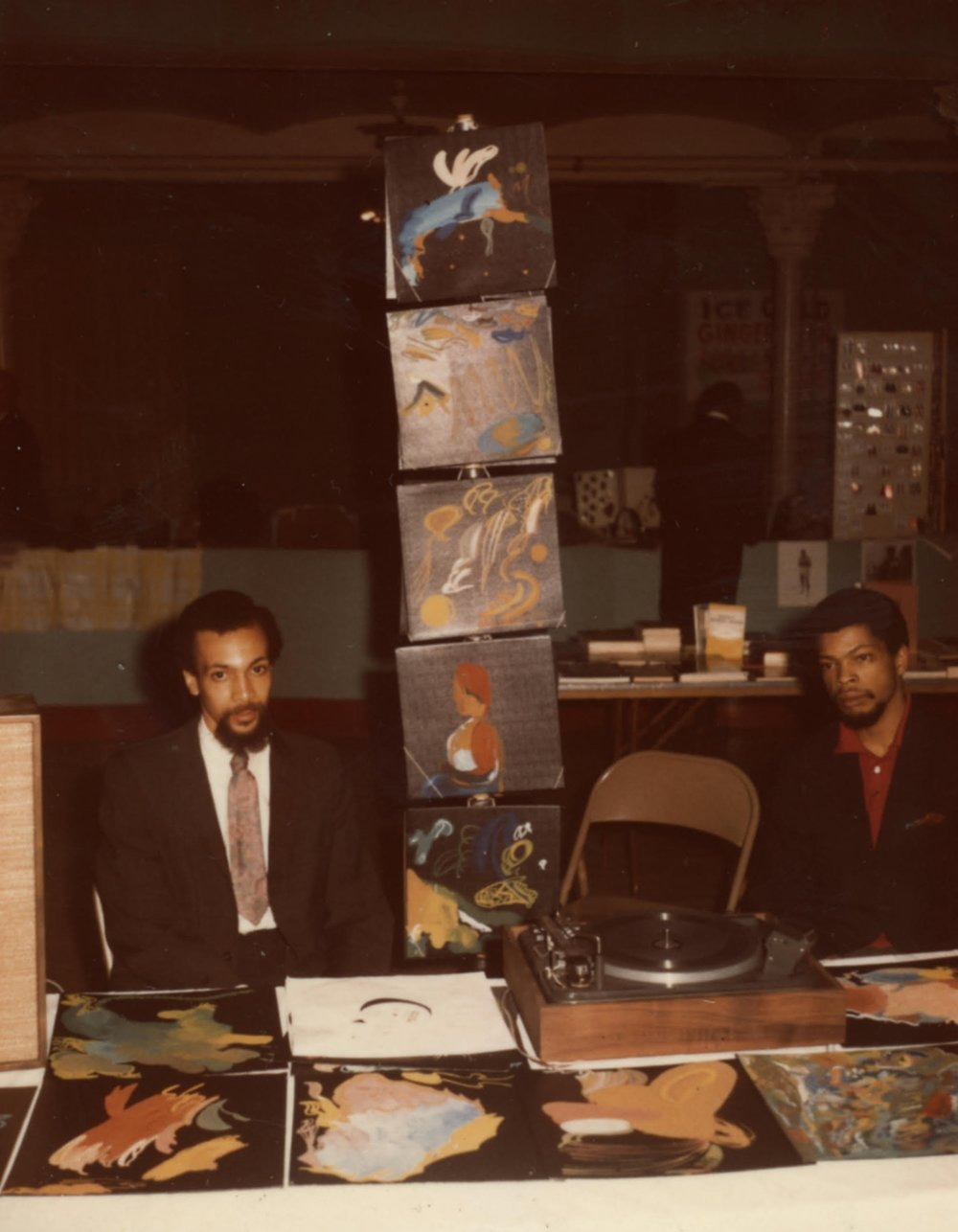 Milford with hand-painted albums.jpg