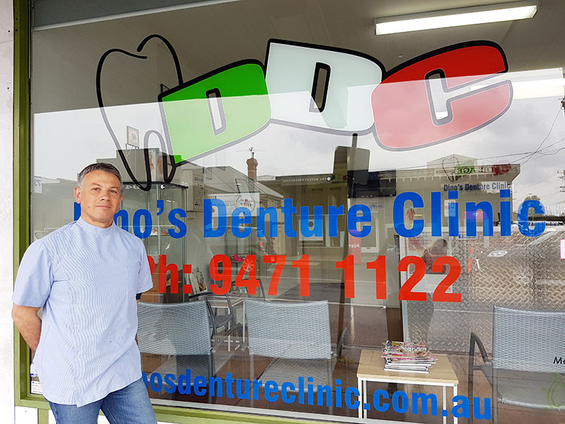 A Family Business - Our Dental Prosthetist, Dino Contin is the owner and operator of Dino's Denture Clinic.He has continued in the family business, working with his father until he retired in 2011.Proudly based in the northern suburbs, the clinic has been servicing the community since the early 1970's, and still continues to do so.Dino has over 25 years experience in the denture industry, firstly as a Dental Technician, and later qualifying as a Dental Prosthetist in 1998.Book an appointment with Dino ➝