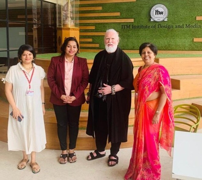 Minerva With Adrien Roberts The Director Of Education At Acm Organize A Seminar On Developing Fashion Portfolio Minerva Italian Education Hub In India