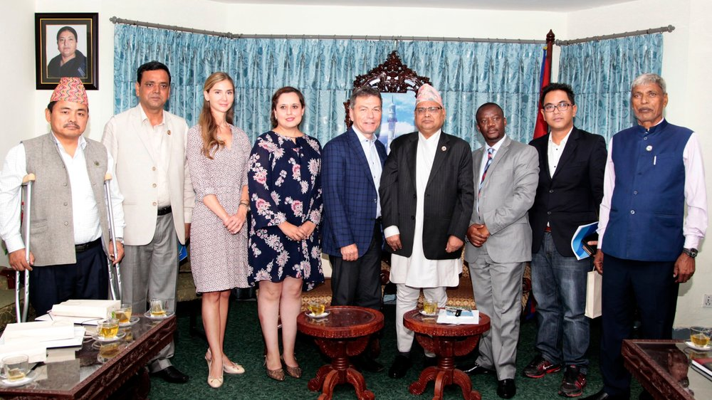 A delegation of five parliamentarians visited Nepal for the second time in 2018.