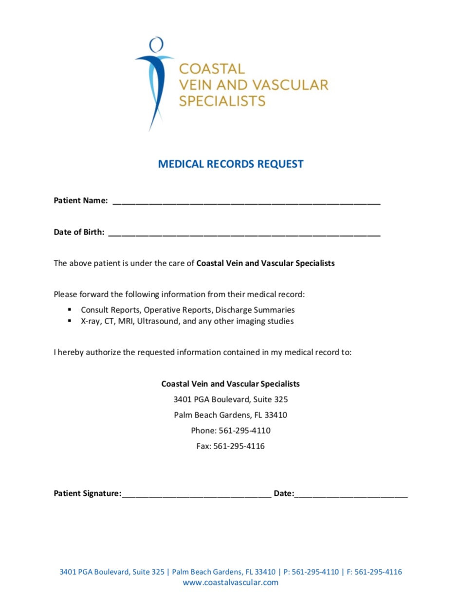 Medical Records Request -