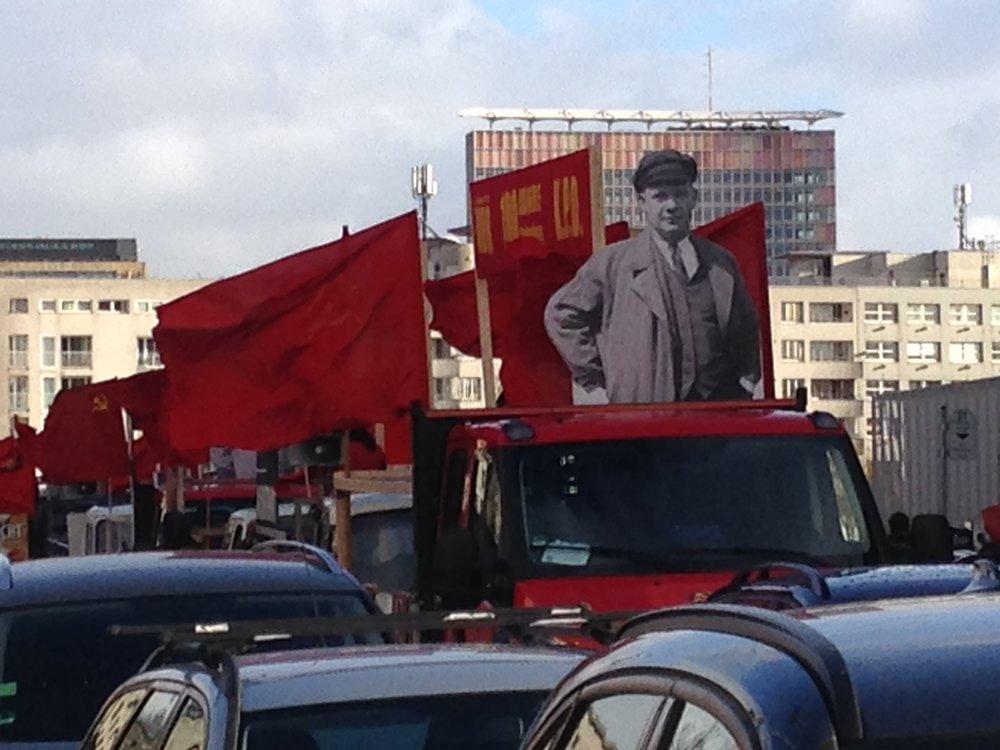 Demonstration 100 Jahre Ernst Thälmann