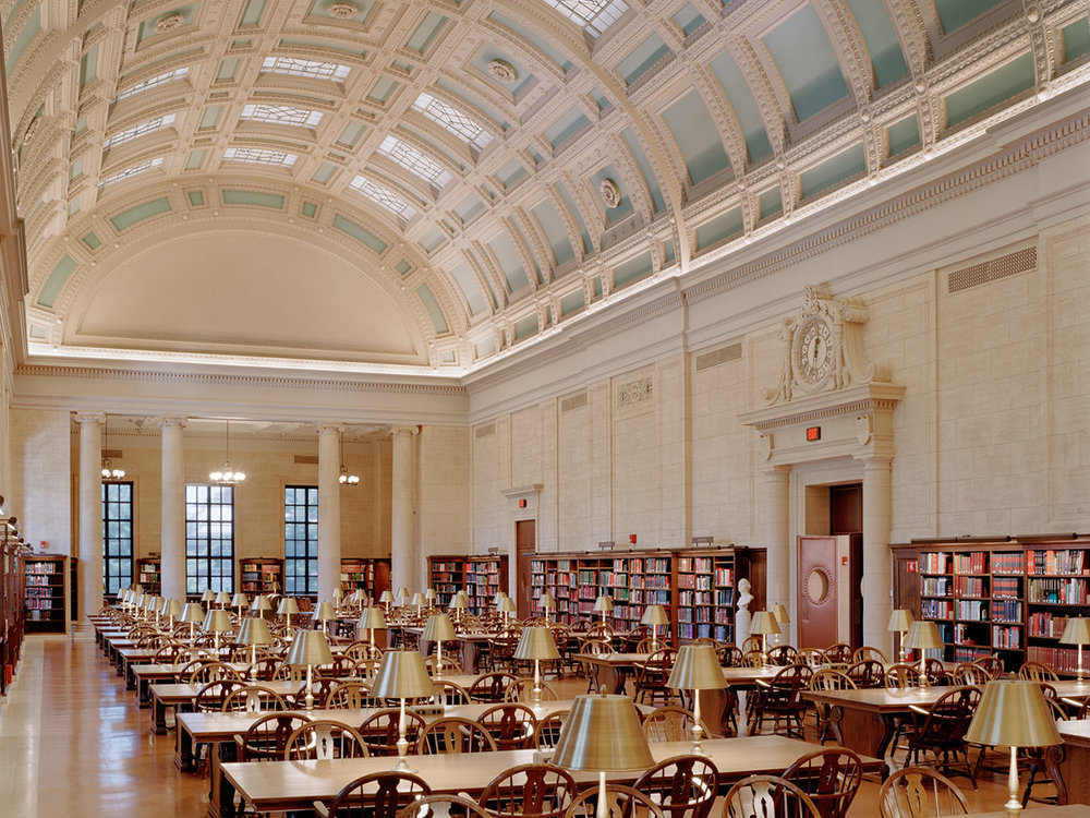 Widener Library at Harvard University, where (fingers crossed) you could be writing your papers next year.