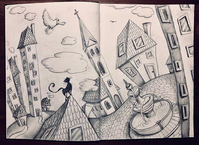 Etwas am kritzeln...:) . . . . . . #sketching #scribble #Skizze #kinderbuchillustration #kinderbuch #illustration  #childrensbooks #illustrator #children #kinder #kids #artist #childrensbooksillustration