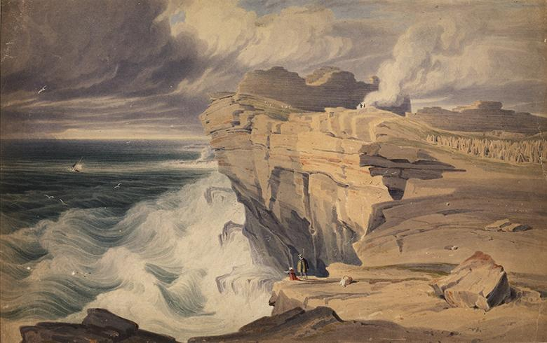 George Petrie (1790-1866), Dún Aonghasa, Inis Mór, Aran Islands, County Galway, c.1827. Image © National Gallery of Ireland  Spanning 250 years,  Shaping Ireland, Landscapes in Irish Art  comprises artworks by fifty artists, exploring the relationship between people and the natural world.  In addition to celebrated artists such as George Barret, Paul Henry and Jack B. Yeats, it includes contemporary practitioners like Dorothy Cross, Willie Doherty, Kathy Prendergast and Sean Scully, as well as emerging artists including Niamh O'Malley, Caoimhe Kilfeather and Samuel Laurence Cunnane.  Encompassing a range of artistic media and perspectives, this exhibition examines different land types and uses, revealing the significant role artists have played in visualising aspects of human impact on the environment.  The exhibition will be accompanied by a fully illustrated catalogue, featuring a selection of expert responses by individuals such as Paula Meehan (poet), Mary Reynolds (garden designer), Duncan Stewart (environmentalist) and John Tuomey (architect), among others.   Exhibition curator | Donal Maguire
