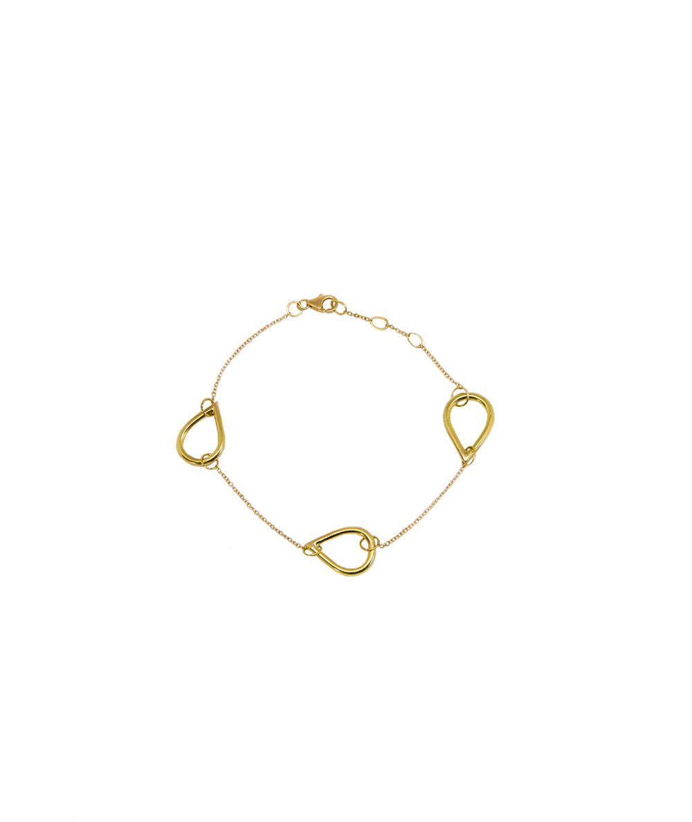 Ocean Drop bracelet. 18kt gold, three small drops