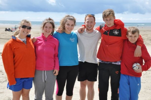 Christian group on beach