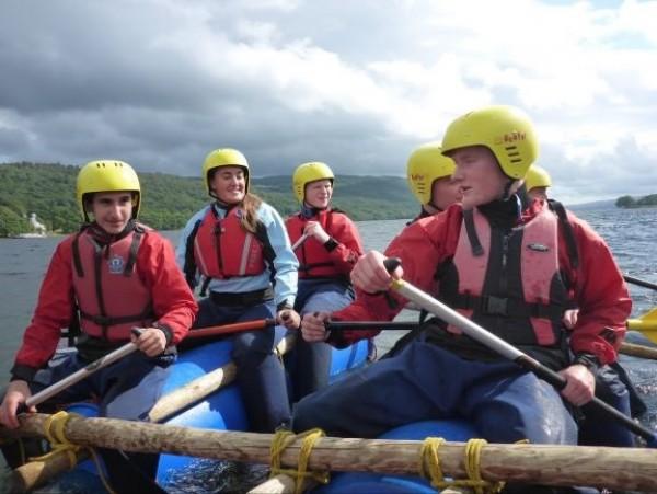 fun raft building leadership challenge