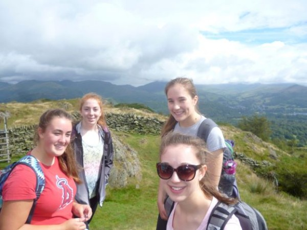 hill walking for young people
