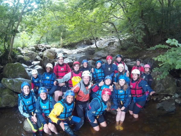 Christian activity holiday gorge walking in snowdonia