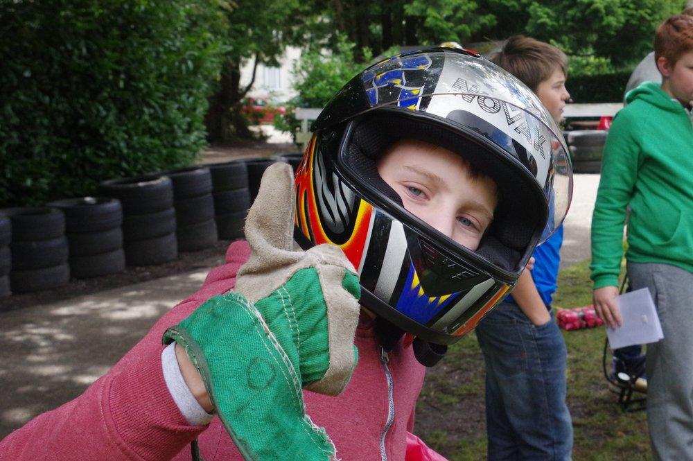 karting activity on adventure holiday