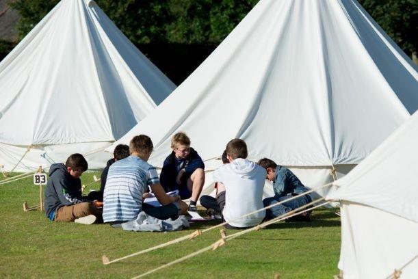 children on activity camp