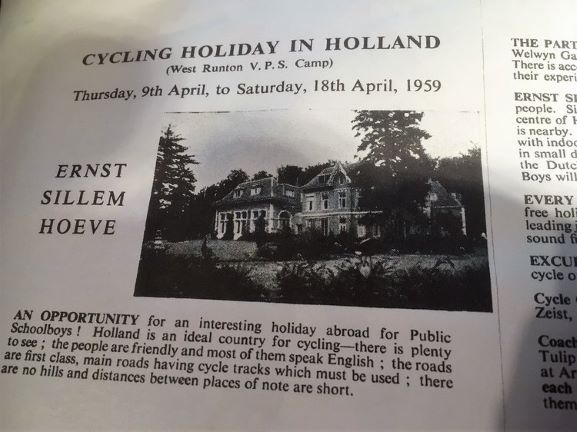 west runton holidays - dutch cycling holiday 1959