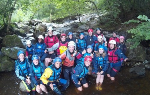 Christian holiday adventure gorge walking in snowdonia