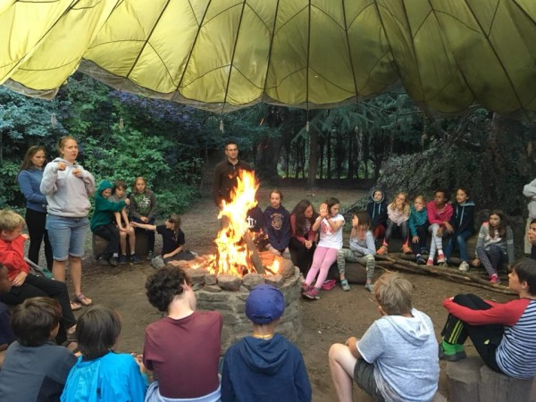 Christian Children's Multi-Activity Camps campfire activity at Viney Hill