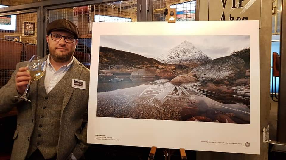 LPOTY Awards 2018, Waterloo, London. with my winning image.