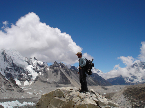 Arriving at Everest Base Camp.