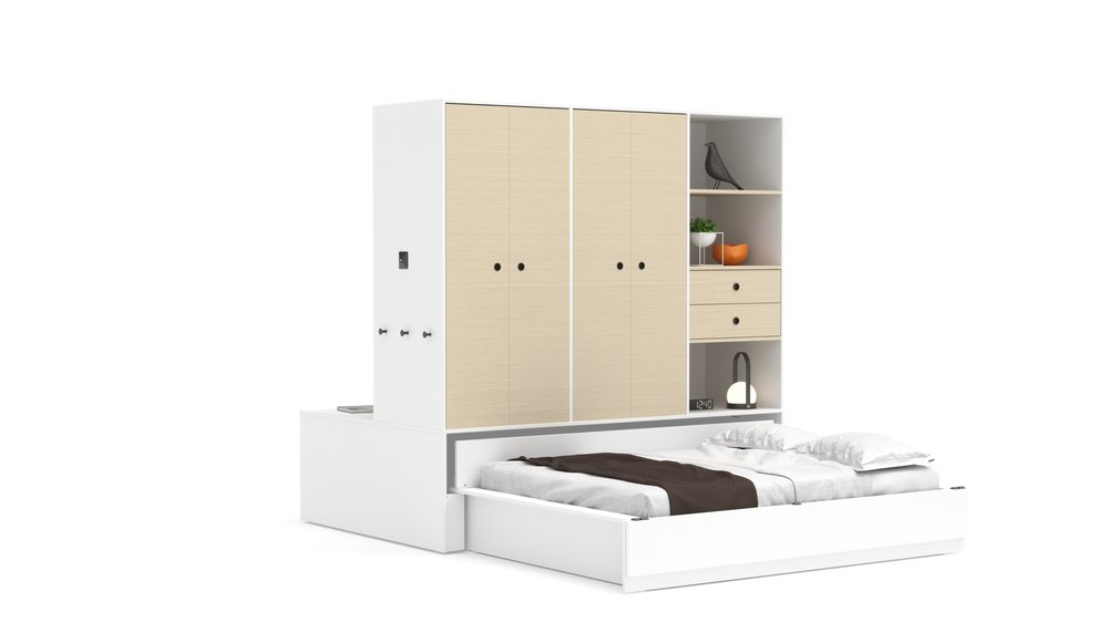 Copy of Full Bed - White Color Finish