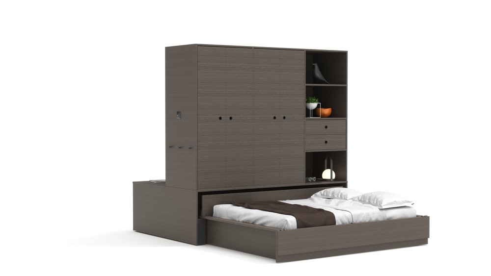 Copy of Full Bed - Walnut Color Finish