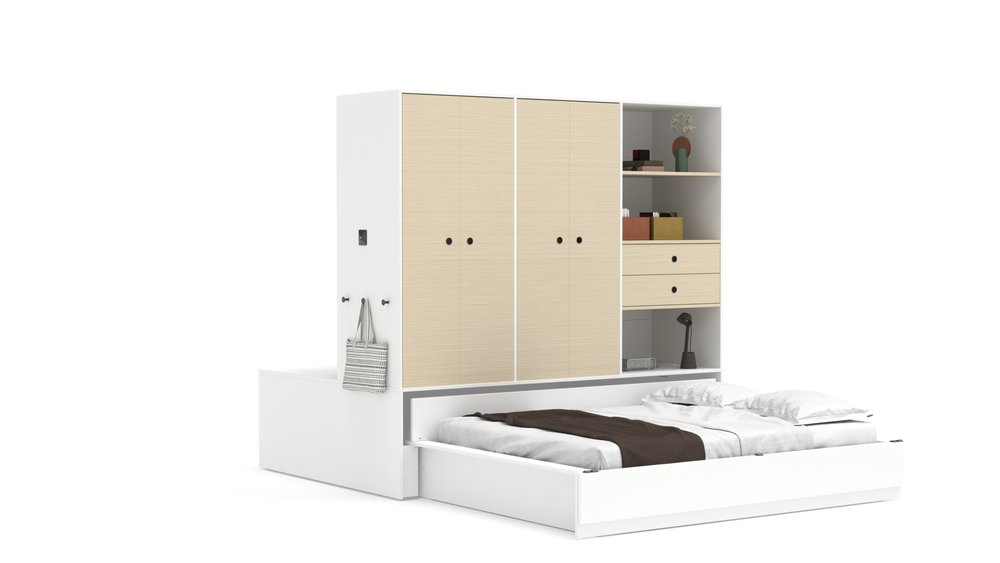 Copy of Queen Bed - White Color Finish
