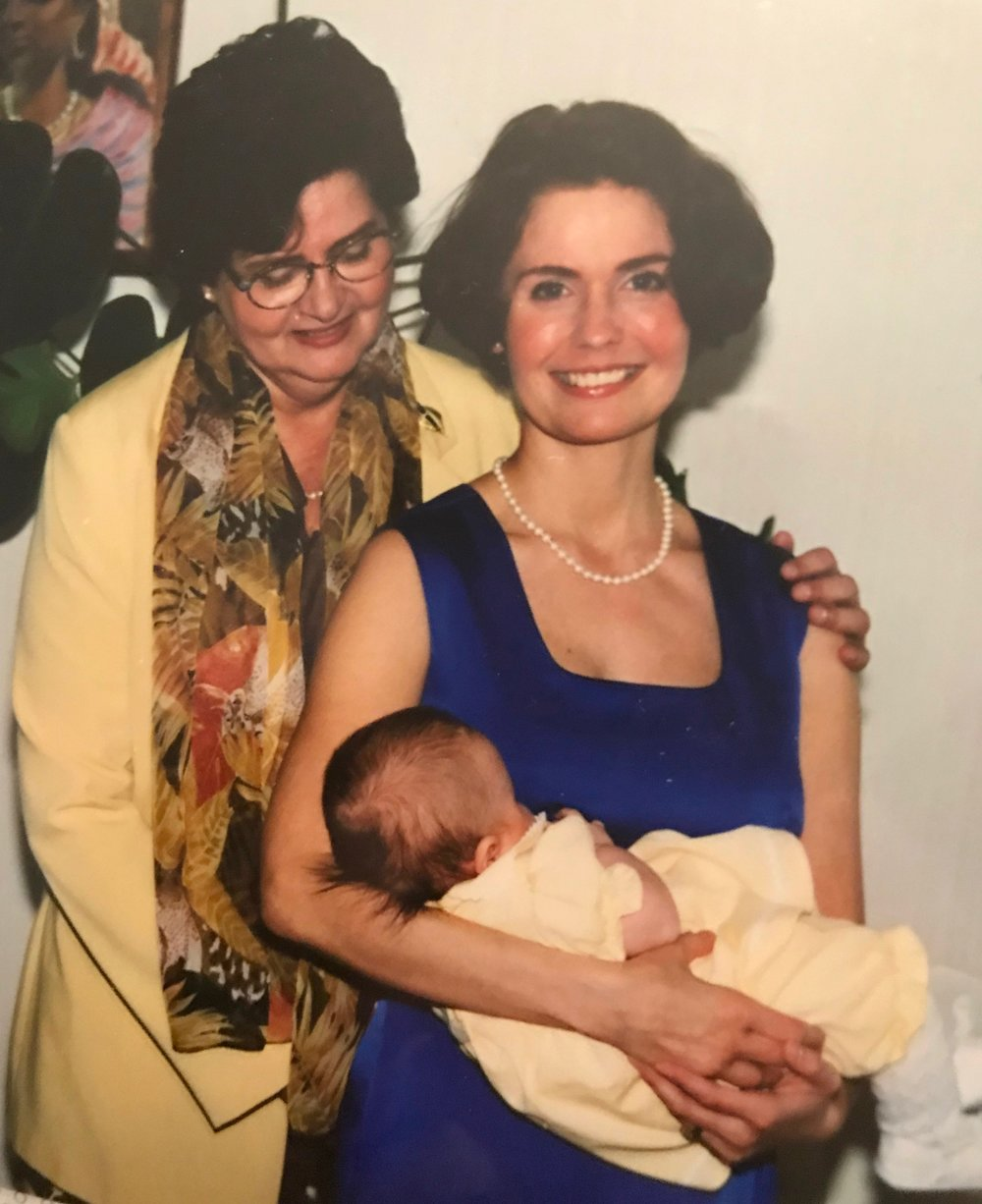 Erika, my mum and me, just before my sister's wedding and christening of my sister's eldest daughter (they had both ceremonies at the same time).
