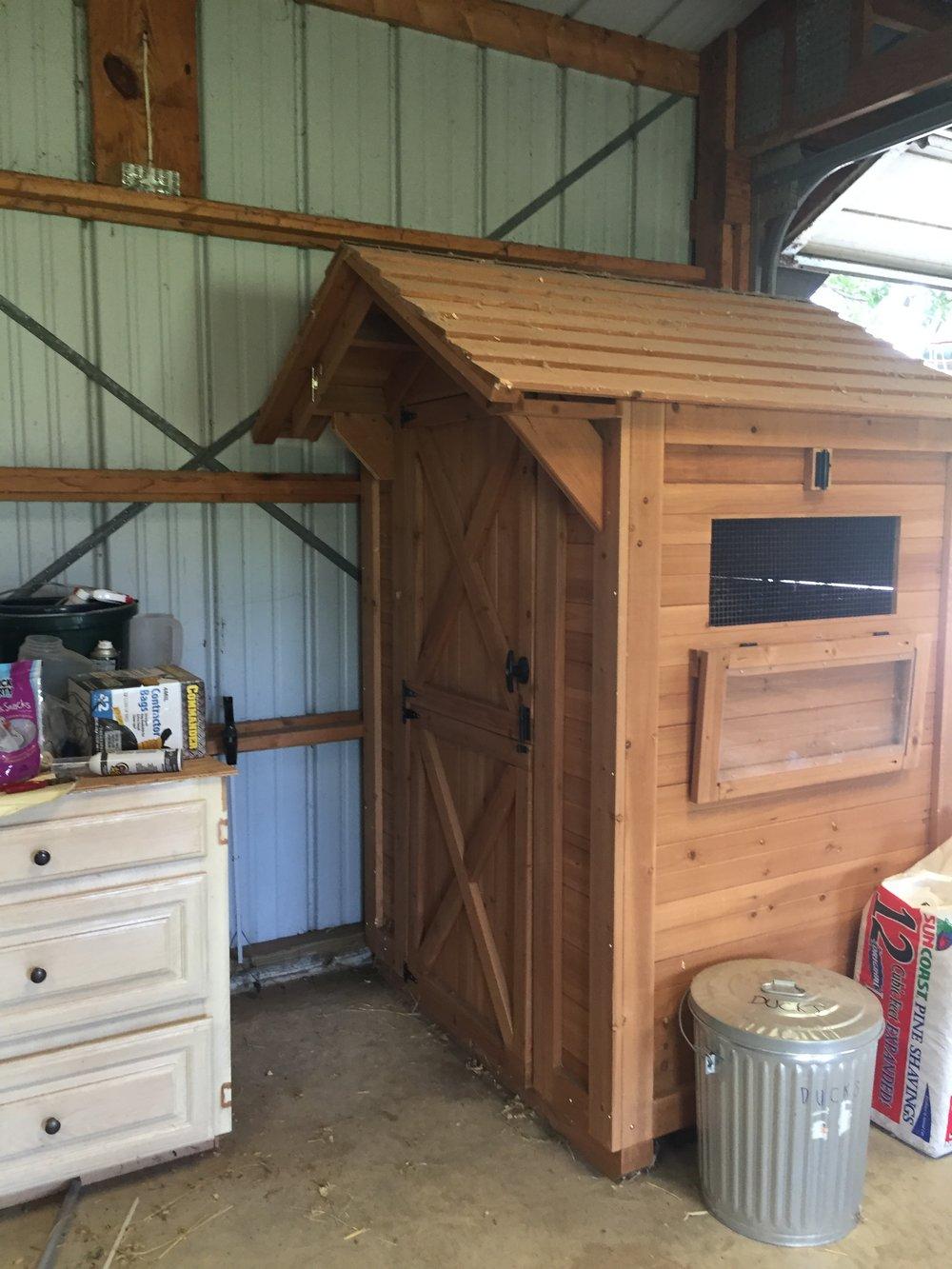 New duck hut.