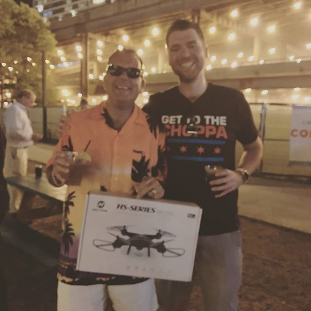 Congratulations to Mike Fitzgerald of @remaxclosers of Mechanicsville, MD. His Hawaiian flare on our tiki river cruise won him a new drone. Thanks for joining us!