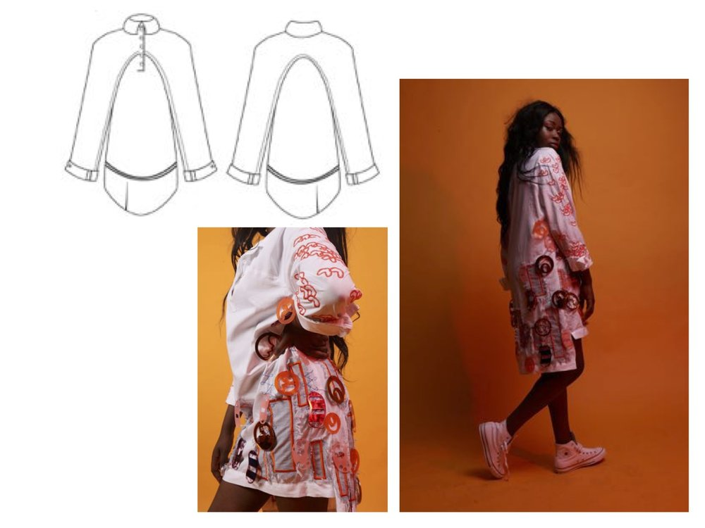 Talent designer ROCHELLE N. BASTIEN who will involved us making the clothes of used recycling materials