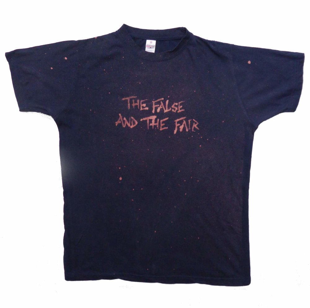 The False and the Fair T-Shirt - Hand dyed by us in a variety of colours and sizes