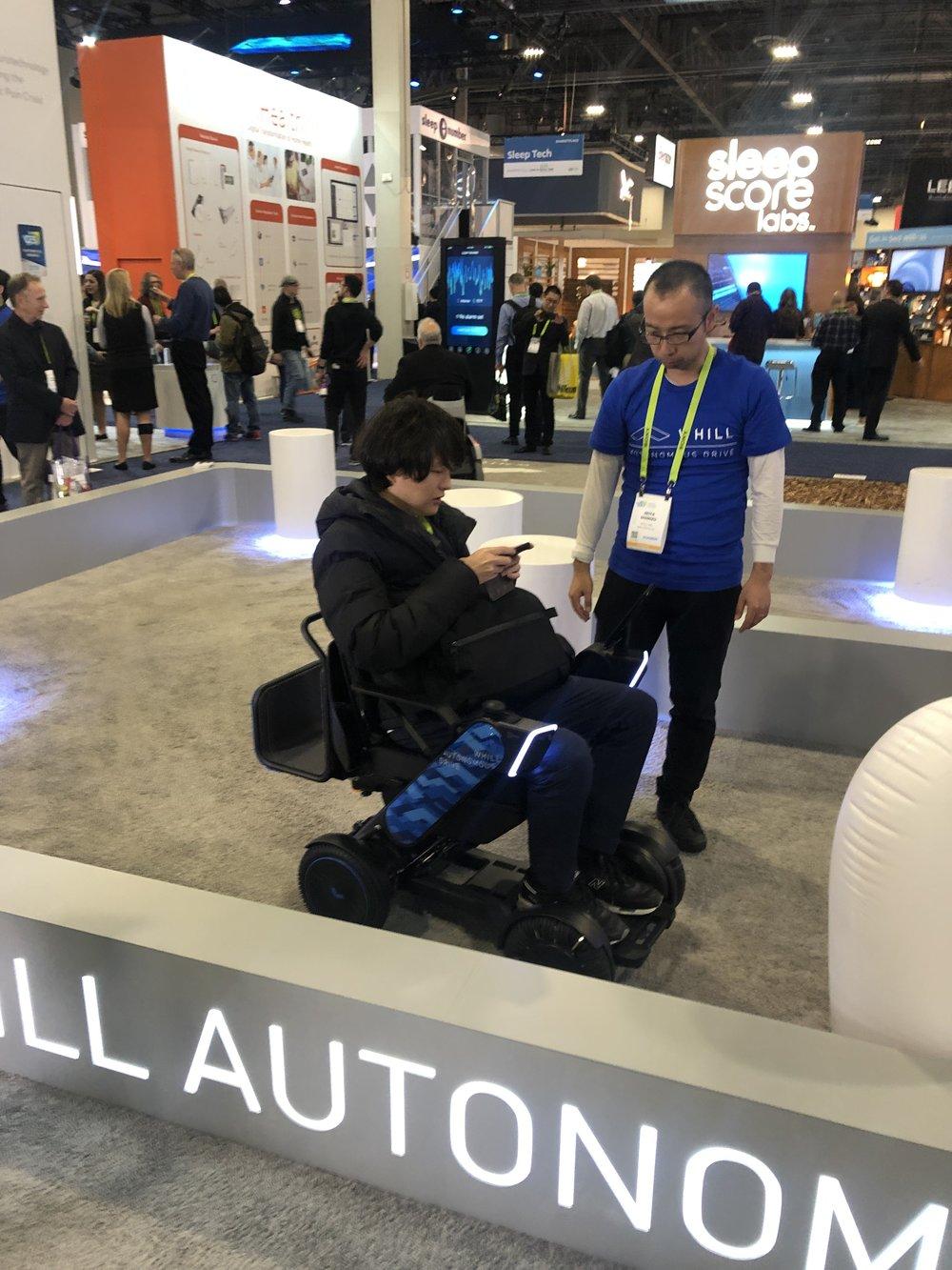 autonomous wheelchair ces 2019.JPG