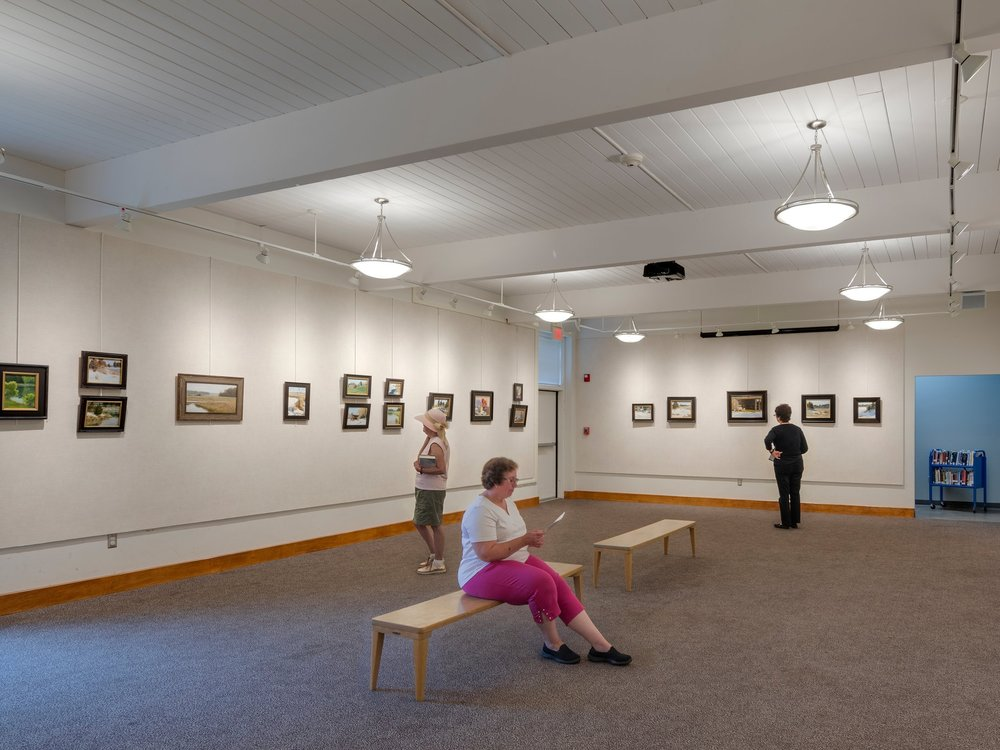 Gallery - The Keyes Gallery provides space for monthly art exhibits, children's storytimes, author events, concerts, film screenings, cultural programs and community meetings. We welcome to you view the current art exhibit in the gallery space during our library hours.
