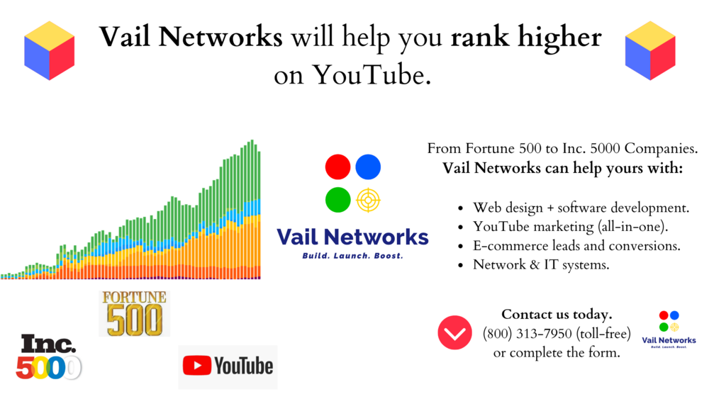 company to help with youtube digital marketing campaigns: vailnetworks.com