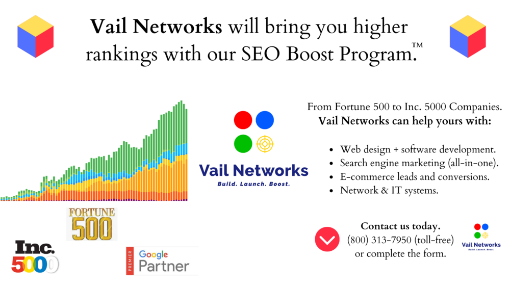 "explanation of ""what is SEO"" and ""How it works"" by VailNetworks.com"