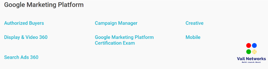 steps to becoming google marketing certified.