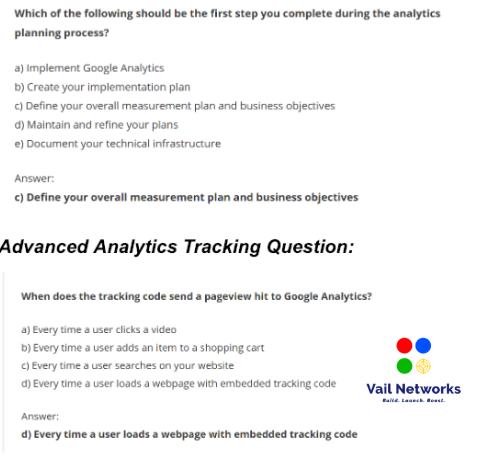 Google Analytics Certification Exams and Assessments