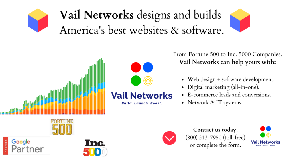 Web development, software development, and digital marketing. Vailnetworks.com