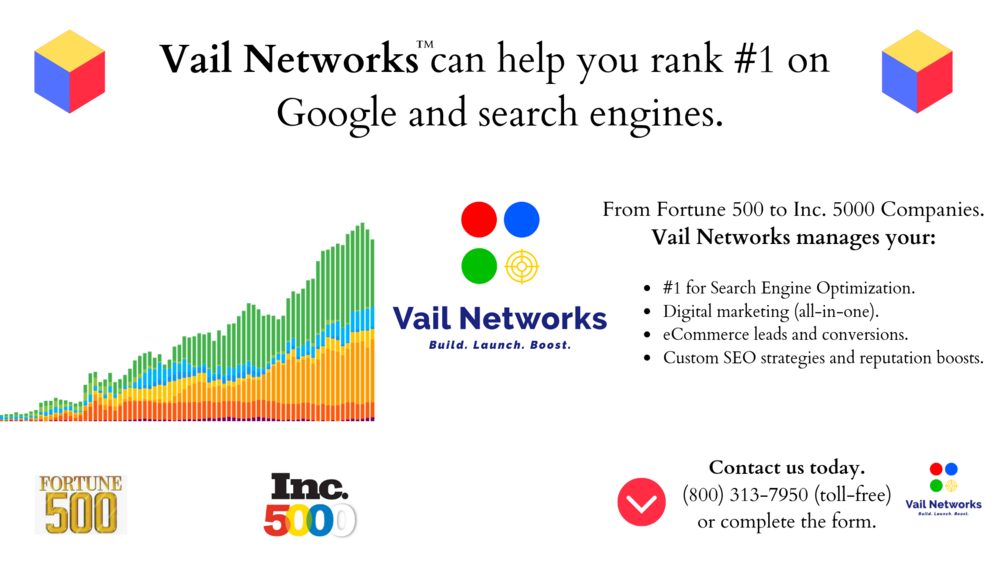 Company to help with SEO and digital marketing: vailnetworks.com
