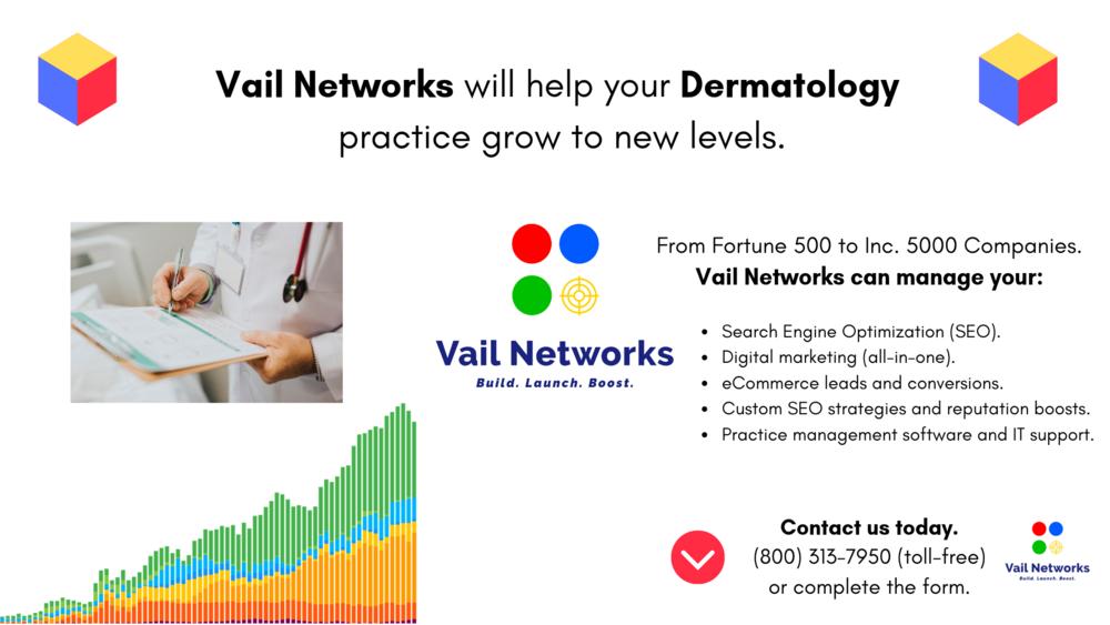Best dermatology websites: built by vailnetworks.com
