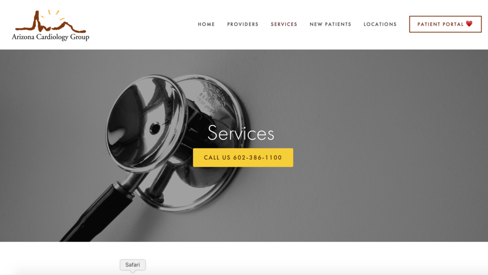 web design themes for cardiologists