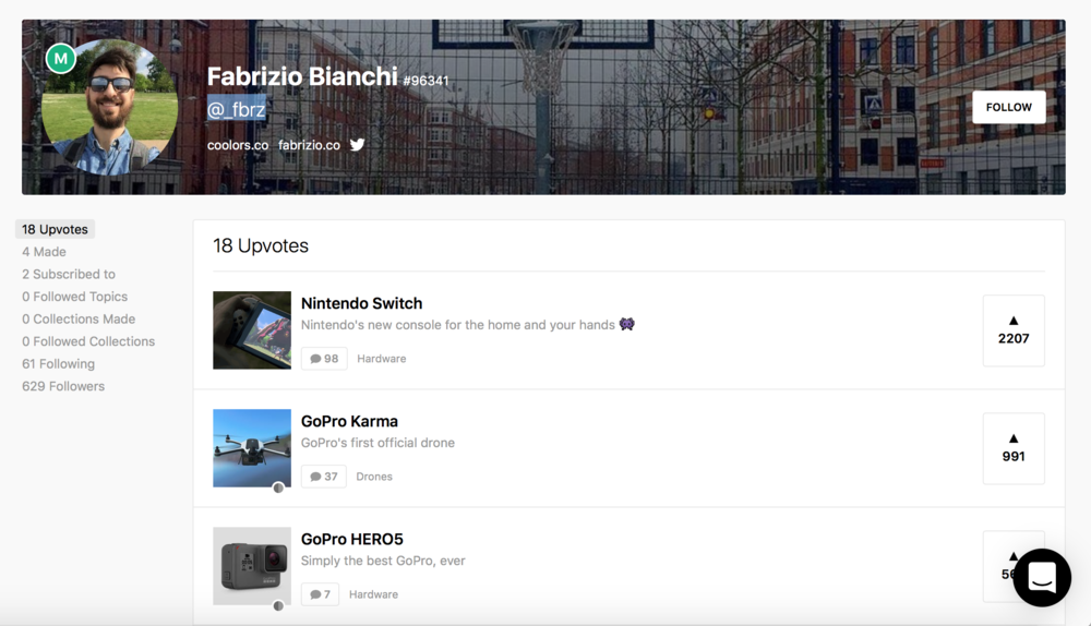 Fabrizio Software Makers on ProductHunt
