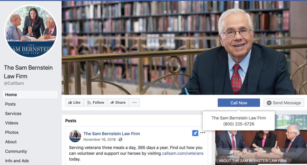 Facebook law firm marketing ideas.
