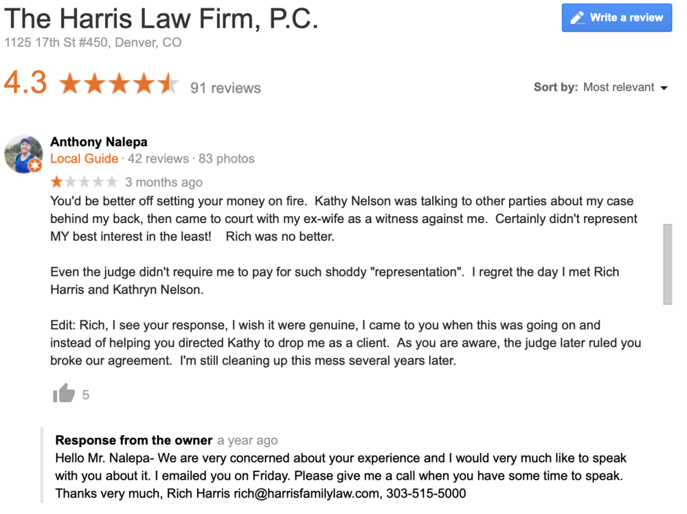 Law firm marketing and reputation management