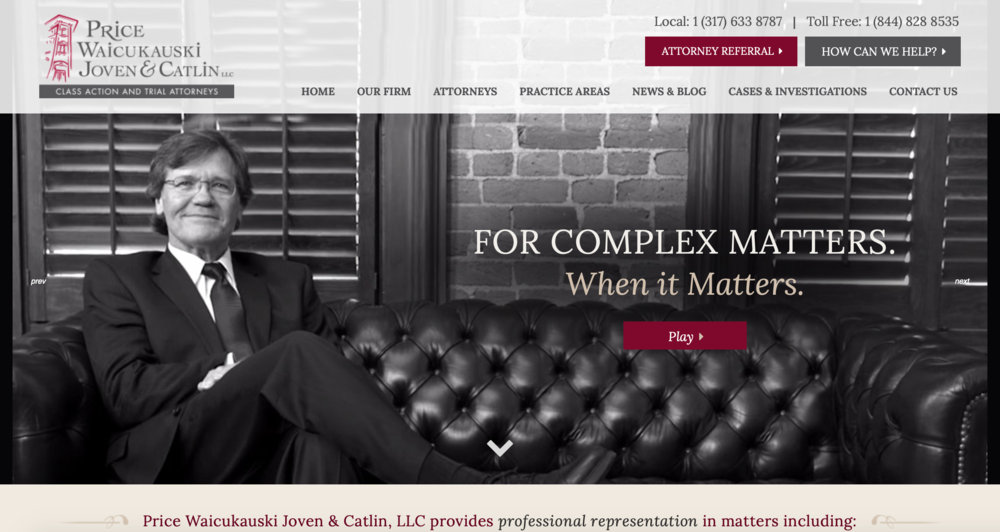 here's an example of a top website to give you law firm marketing ideas.