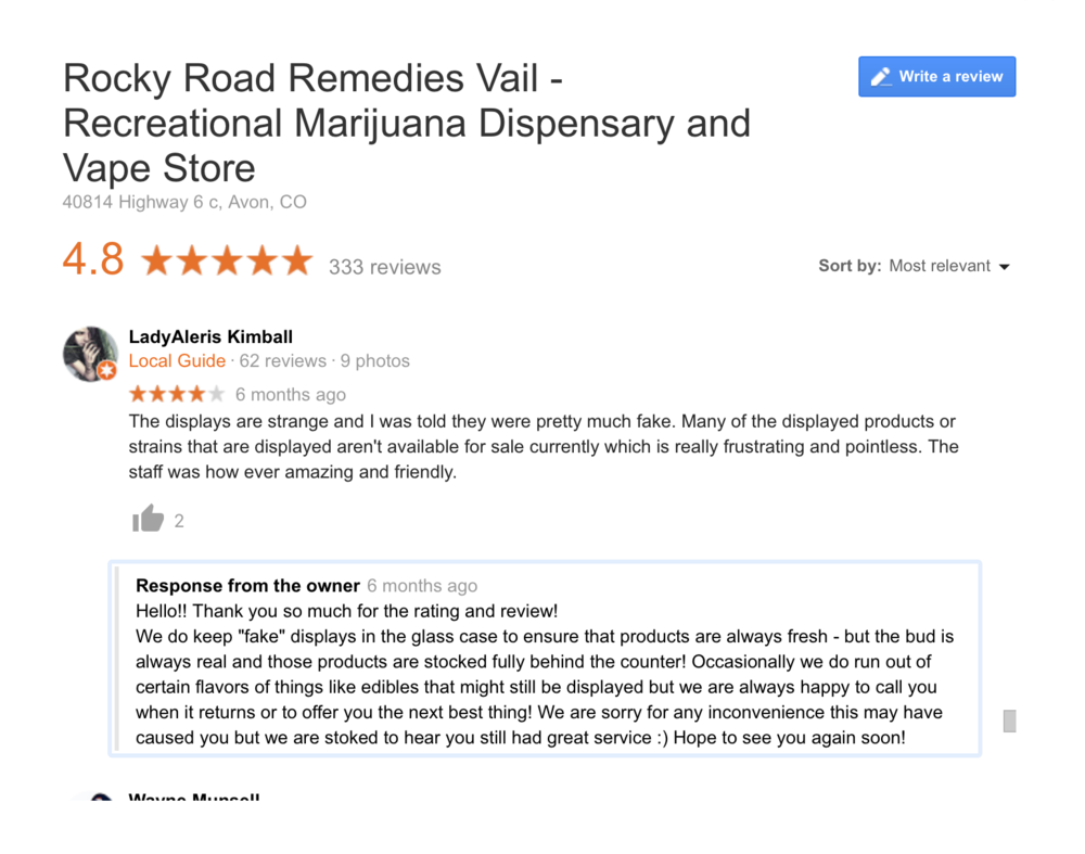 Dispensary marketing Reputation management for marijuana and cbd companies.