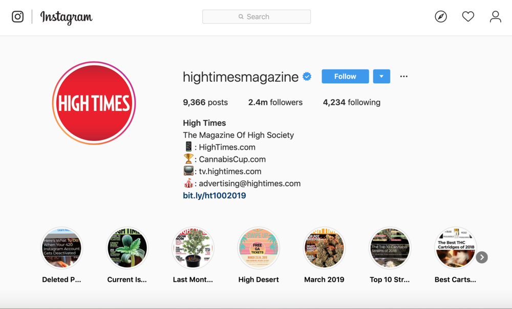 Cannabis marketing on instagram and social media guide.