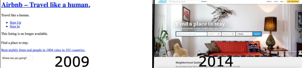 Website development improvement Airbnb