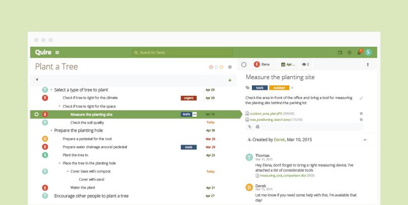 Website development Project Management Software Quire